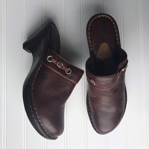 Born Leather Mules Clogs Size 10M